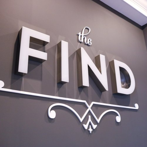 The Find Fort Wayne interior sign 3