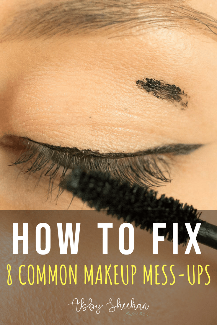 Don't panic when you have one of these common makeup mishaps! Happens to everyone...so here's how to easily fix it and continue looking FLAWLESS! #makeupmistakes #makeupmishaps #makeup #makeupforbeginners #badmakeup #beautyhacks #makeuptips #makeuphacks #beautytips